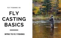 man fly casting in river