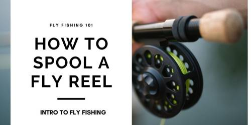 how to spool a fly reel banner