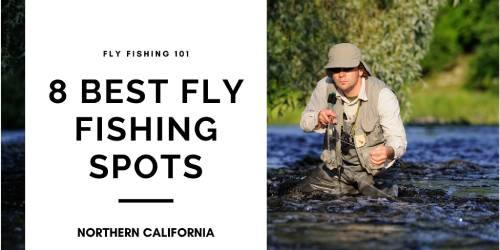 fisherman fly fishing in river